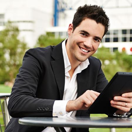 Young Latino entrepreneur